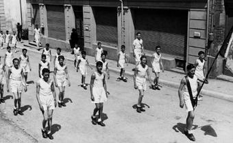 Fête cantonale Jeunes Gymnastes à Cossonay en 1944