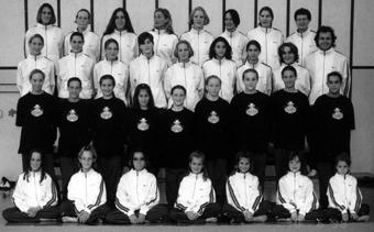 Le groupe agrès filles en 1994